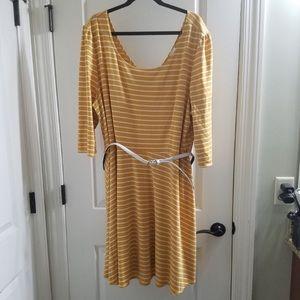 Beautiful yellow and white stripe dress